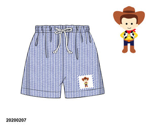 Woody Smocked Boy Swim Trunks
