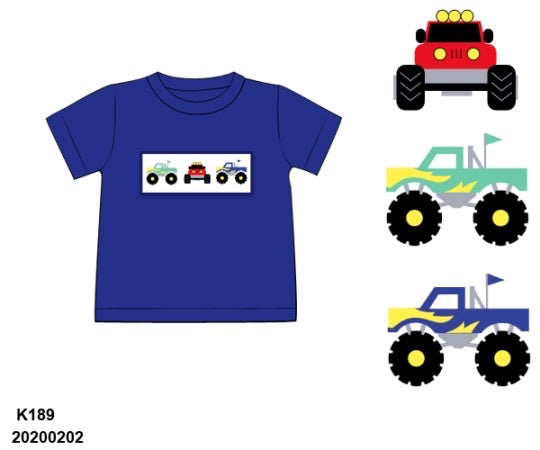 Monster Truck Smocked Shirt - ETA early May