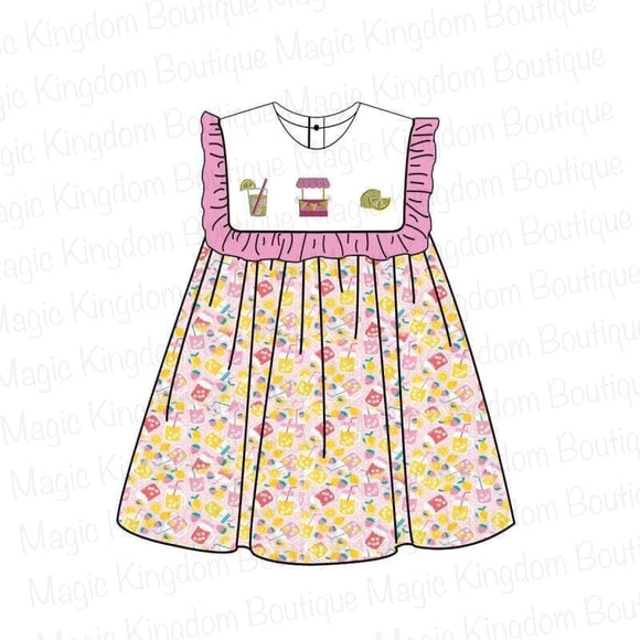 Lemonade Stand Applique Dress - ETA early July