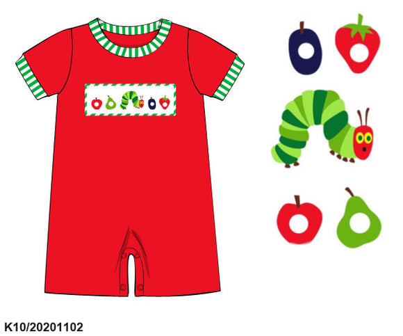 Very Hungry Caterpillar Smocked Romper PO15 - ETA late January
