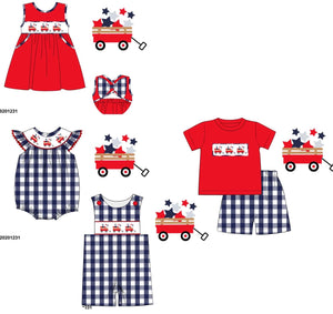 Patriotic Wagon Smocked Collection PO17.5 - ETA early May