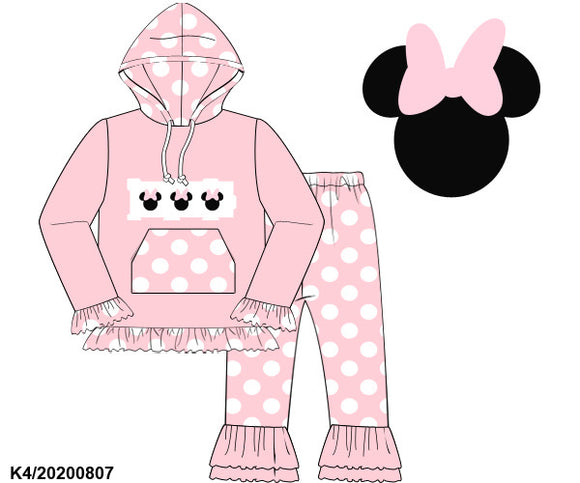 Minnie Smocked Hooded Set PO14