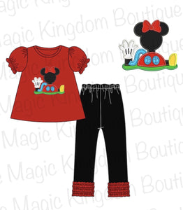 Mickey Mouse Clubhouse Appliqué Legging Set Extras - ETA late September