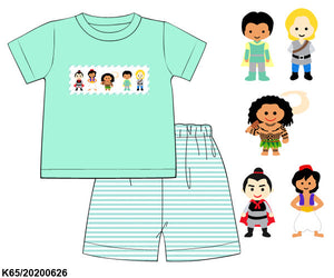Colors of the Wind Smocked Boy Short Set PO12
