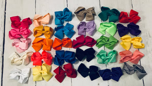 Hair Bow - 4 inch - 30 colors