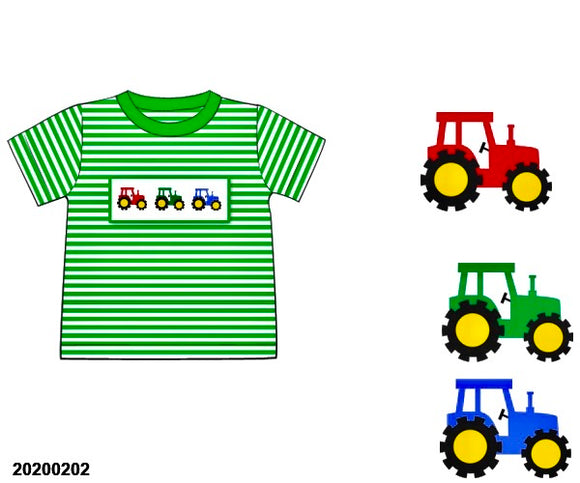 Tractor Smocked Shirt