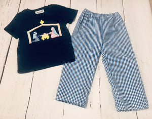 Nativity Appliqué Pant Set