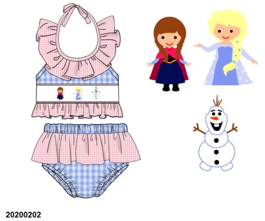 Frozen Smocked Two Piece Swim Suit - ETA early May