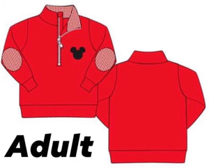 ADULT Mickey Applique Pullover