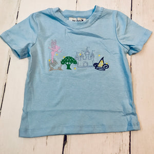 Four Parks Applique Boy Shirt