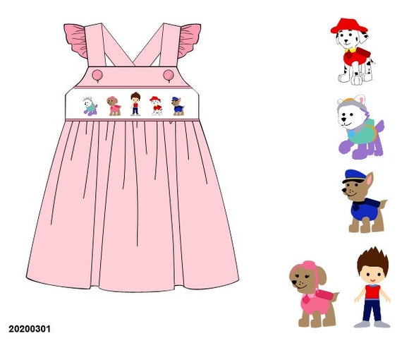 Paw Patrol Smocked Dress PO9 Extras