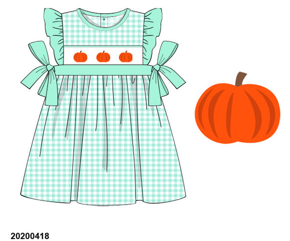 Mint Pumpkin Smocked Dress PO10 Extras - ETA late August