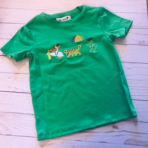Mardi Gras Boys Short Sleeve Shirt