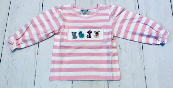 Puppy Dog Pals Smocked Girl Shirt