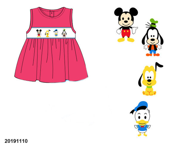 Mickey and Friends Smocked Girl Shirt PO17