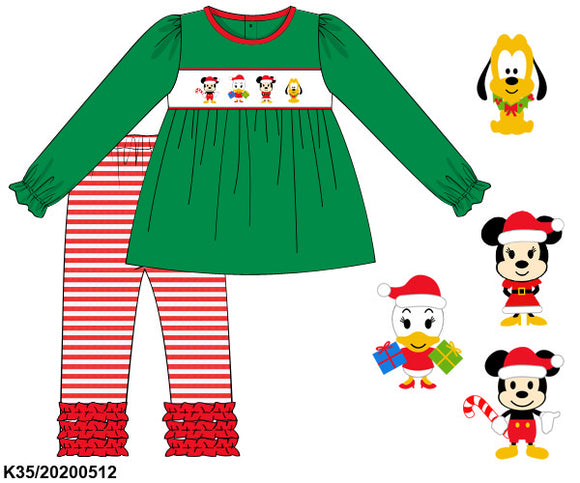 Disney Christmas Smocked Girl Set PO13 Extras - ETA mid November