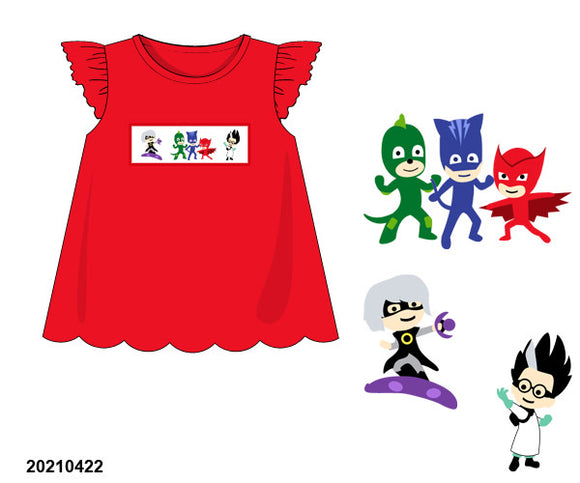 PJ Mask Smocked Girl Shirt PO20 - ETA late July