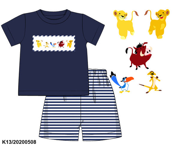 Lion King Smocked Boy Set PO11 Extras - ETA mid September
