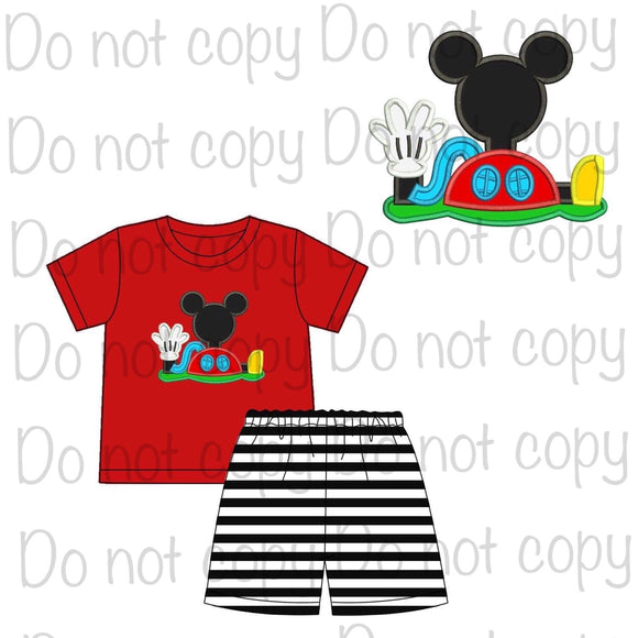 Mickey Mouse Clubhouse Appliqué Shorts Set