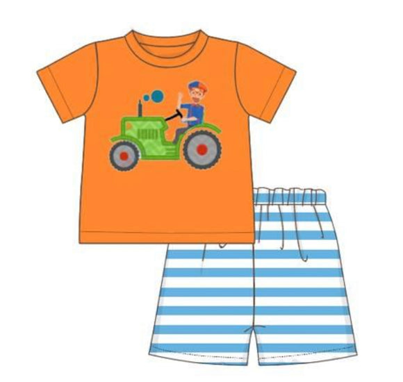 Blippi Tractor Applique Set - ETA mid January