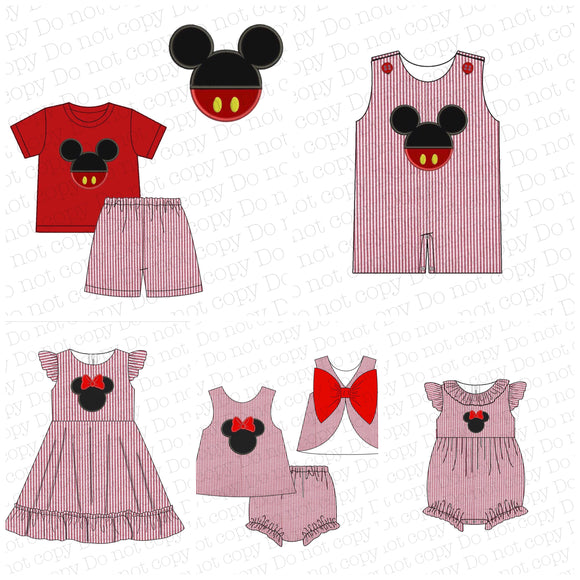 Mickey Applique Seersucker Collection