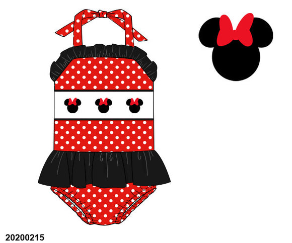 Minnie Polka Dot Smocked One Piece Swim Suit - ETA early July