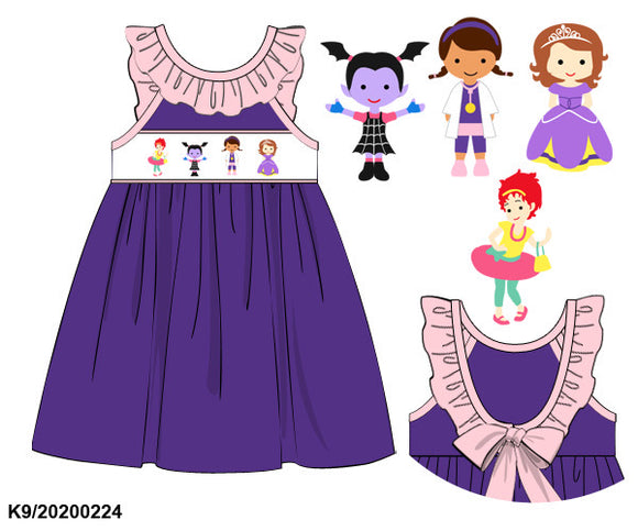Disney Jr Mashup Smocked Dress PO8 - ETA early July