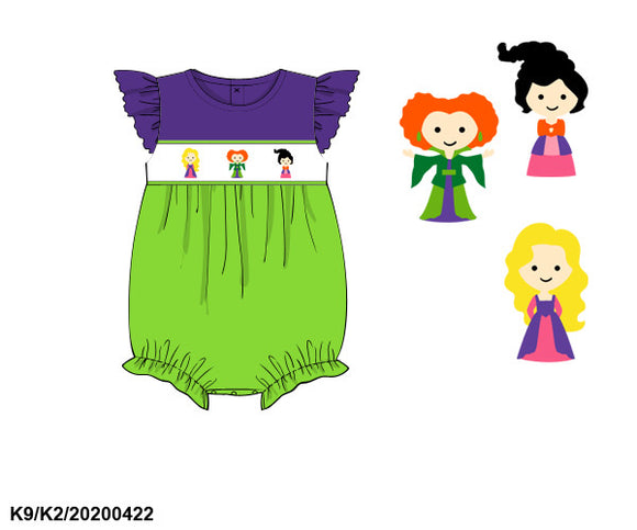 Hocus Pocus Smocked Bubble PO10 Extras - ETA late August