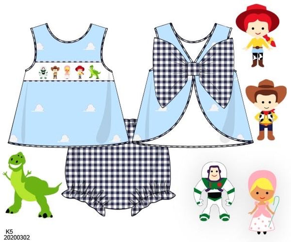 Toy Story Smocked Bloomer Set PO17