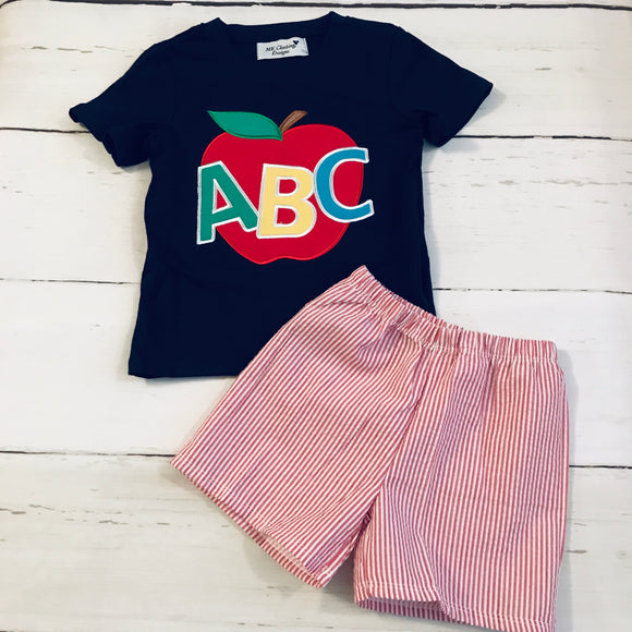 ABC Applique Shorts Set