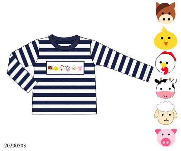 Farm Animals Smocked Shirt - ETA late August
