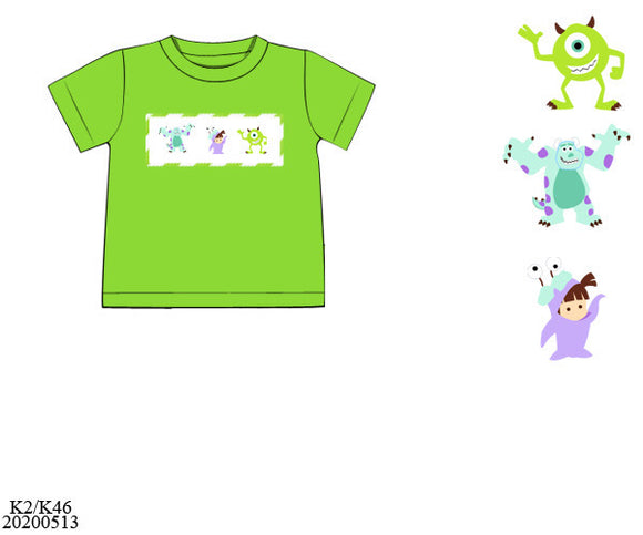 Monster INC Smocked Boy Shirt PO11 Extras - ETA mid September