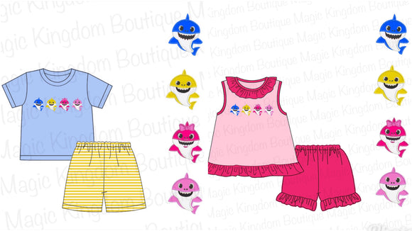 Baby Shark Appliqué Sets Extras - ETA early June