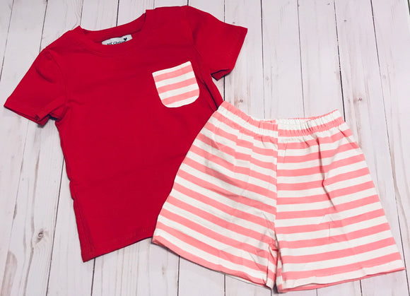 Red and Pink Valentines Boy Set