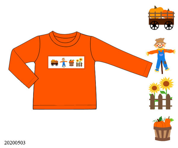 Harvest Boy Smocked Shirt - ETA late August