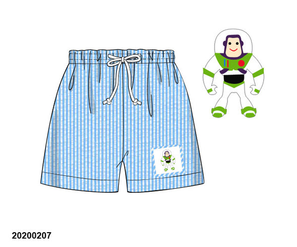 Buzz Lightyear Smocked Boy Swim Trunks - ETA early May