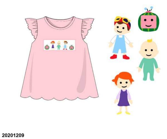 Cocomelon Smocked Girl Shirt PO17