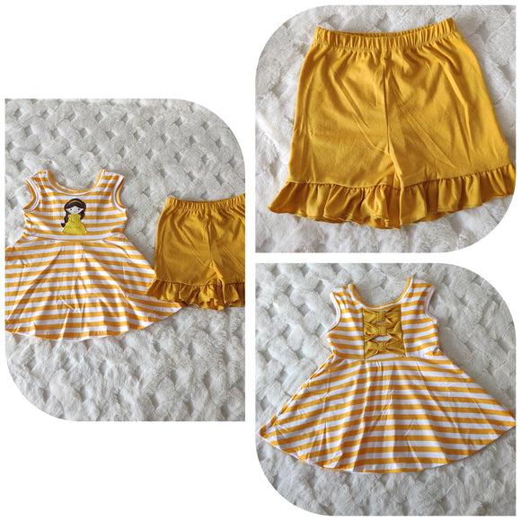 Belle Applique Shorts Set MUSTARD yellow - ETA late July