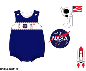 NASA Smocked Boy Bubble PO15 - ETA late January