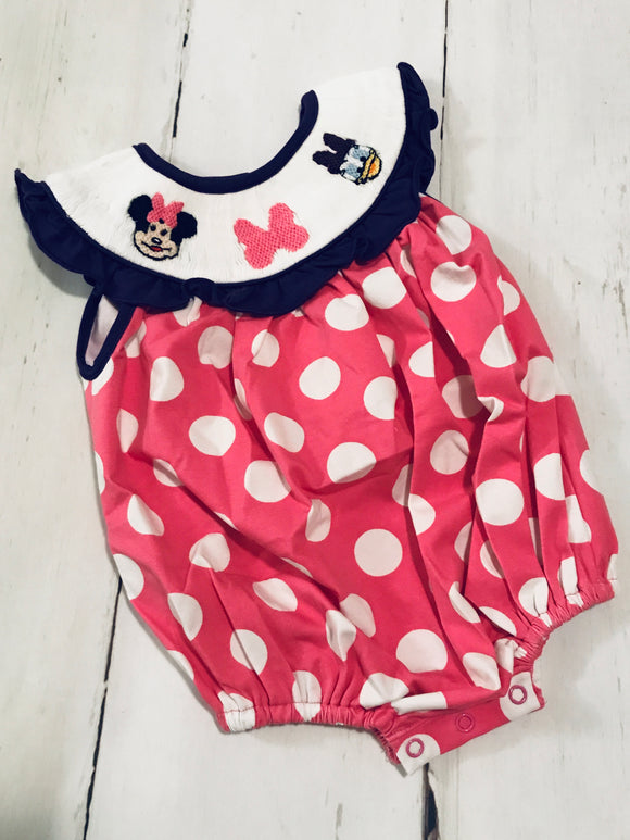 Minnie and Daisy Smocked Bubble