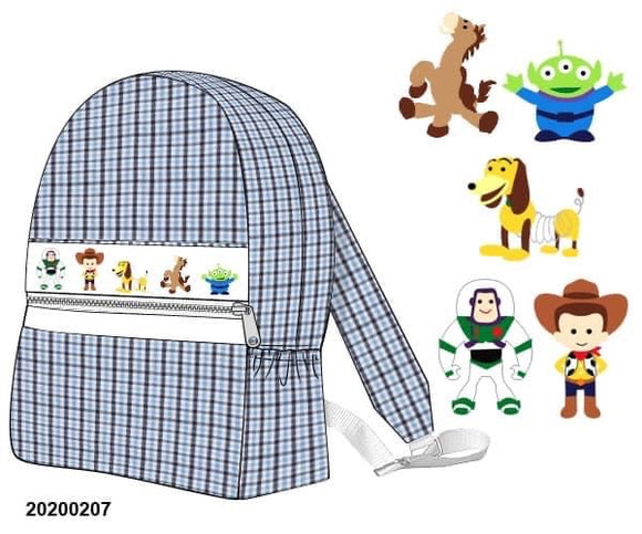 Toy Story Smocked Backpack PO11 Extras - ETA mid September