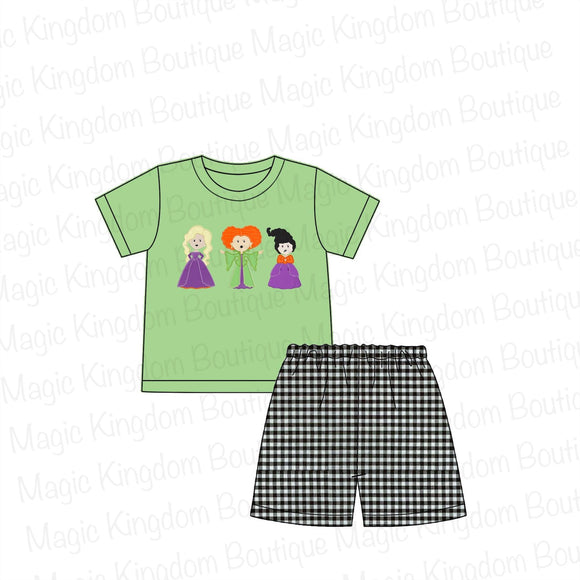 Hocus Pocus Appliqué Boy Shorts Set