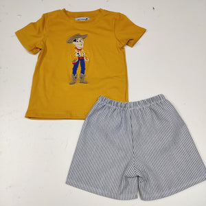 Woody Mustard Appliqué Set