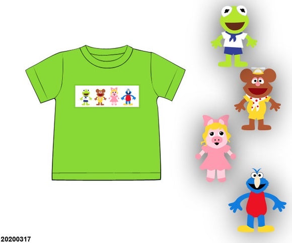 Muppet Babies Smocked Boy Shirt PO7
