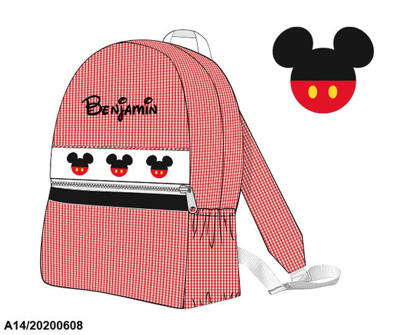 Mickey Smocked Backpack (with name) PO20 - ETA late July