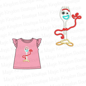 Forky Appliqué Girl Shirt
