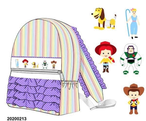 Toy Story Rainbow Smocked Backpack EXTRAS PO17 - ETA late March