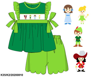 Peter Pan Smocked Girl Set PO14