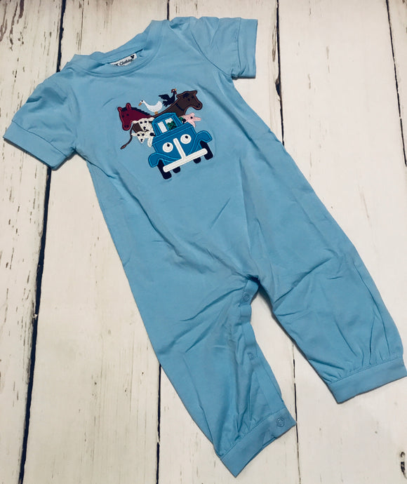 Little Blue Truck Romper