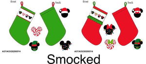 Disney Smocked Christmas Stockings PO13